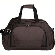 "Bugatti DUF604 Nylon Duffle Bag, 10.25""W x 10""H x 21.25""L, Brown"