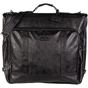 "Bugatti GRM2084 Synthetic Leather Garment Bag, 22""L x 21' H x 3""W, Black"