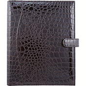 Bugatti JRN6091 Synthetic Leather Journal w/ Croco Finish, Brown