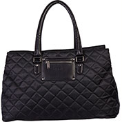 """Bugatti LBG22105 Quilted Polyester Ladies 15.6"""" Computer Tote, Beige"""