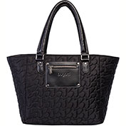 """Bugatti LBG23110 Quilted Polyester Ladies 15.6""""Computer Tote, Black"""