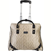 Bugatti LBZW23108 Quilted Polyester Ladies Tote on Wheels, Beige