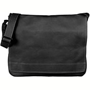 "Bugatti MSG1017 Bogota Columbian Leather Messenger Bag, 4""W x 13""H x 15""L Black"