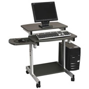 Compact PC Workstation - Charcoal and Silver