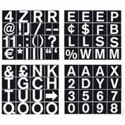 "MasterVision 3/4"" Magnetic Set of Letters, Numbers & Symbols"