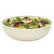 "Cambro RSB23CW148 - Bowl Ribbed Camwear Round 23"", White - Pkg Qty 4"
