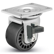 "Shepherd® Business Machine Caster - Swivel with Brake 3"" Dia 700 Lb. Cap. Glass Filled Nylon"