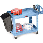 "Rubbermaid Premium Universal Shelf Carts - 36""Wx24""D Shelf - 38-1/8""H - Blue"