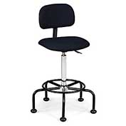 "Relius Solutions Ergofit Adjustable Stool With Back - 28-35-3/4"" Seat Height"