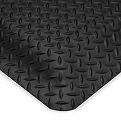 Wearwell Ultrasoft Diamond-Plate Anti-Fatigue And Safety Mat - 2X3' - Black