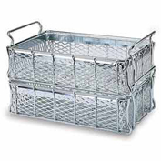 "MID-WEST WIRE Basket - 24x13-1/4 x6 - Stainless - -1/2"" Mesh Sides and Bottom"
