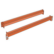 "Husky Pallet Rack Solid Beam - 120X6"" - Heavy Duty - One Piece"