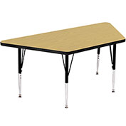 """Activity Tables, 48""""L x 24""""W, Standard Height, Trapezoid - Fusion Maple"""