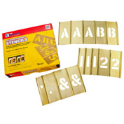 2-1/2 Brass Interlocking Stencil Letters and Numbers, 92 Piece Set