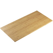 "Cal-Mil 1435-1232-60 Bamboo Rectangle Tray 12""W x 32""D x 1/2""H - Pkg Qty 5"