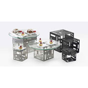 """Cal-Mil 1607-9-55 Squared Cube Riser 9""""W x 9""""D x 9""""H Stainless Steel"""