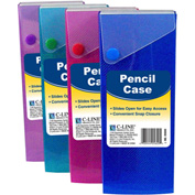 C-Line Products Slider Pencil Case, Assorted Colors - Pkg Qty 24