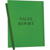 C-Line Products Vinyl Report Covers w/ Binding Bars, Green, Matching Binding Bars, 11 x 8 1/2, 50/BX