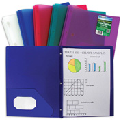 C-Line Products Biodegradable Two-Pocket Heavyweight Poly Portfolio with Prongs - Pkg Qty 12