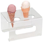 "Dispense-Rite® 4 Section Cone Stand - 1-5/8"" Holes"