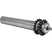 "1.9"" Dia. x 9 Ga. Steel 40A18 Sprocketed Roller 38209-48-GP for 48"" O.A.W. Omni Conveyors"