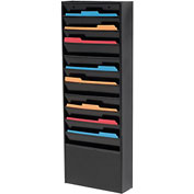 11 Pocket Medical Chart & Special Purpose Literature Rack - Black
