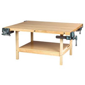 """Diversified Woodcrafts 64""""W x 28""""D Woodworking Bench, Maple"""
