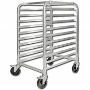"Winco ALRK-10BK - 10-Tier Sheet Pan Rack W/ Brakes, 39""H"