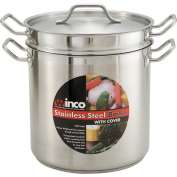 Winco SSDB-16 Double Boiler W/ Cover