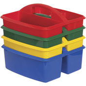ECR4Kids® 3 Compartment Small Caddy 9-1/4x9-1/4x5-1/4, Assorted, Price Per Pack of 3, Sold 4/PK - Pkg Qty 3