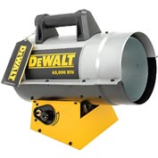 DeWALT® Portable Forced Air Propane Heater DXH65FAV 35K to 65K BTU
