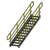 "Equipto 1548IBC17 IBC Stairway, 48"" Width, 17 Stairs"