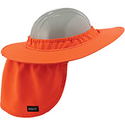 Ergodyne® Chill-Its® 6660 Hard Hat Brim with Shade, Orange, One Size - Pkg Qty 6