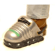 """Ellwood Safety Men's Foot Guards, Rubber Strap, Full Rubber Sole, 6""""W, Extra Large, 1 Pair"""