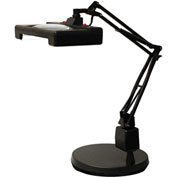"""Electrix 7460 3-Diopter Wide View Illuminated LED Magnifier W/Weighted Base, 30"""" Reach, 120V"""