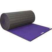 "EZ Flex Sport Mats Cheerleading/Gymnastics Roll Mats 42' x 6' x 1-3/8"" Purple - 201R-PP"