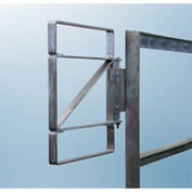 """FabEnCo Z Series Carbon Steel Galvanized Bolt-On Self-Closing Safety Gate, Fits Opening 27-30"""""""