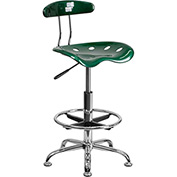 Flash Furniture Desk Stool with Back - Plastic - Green