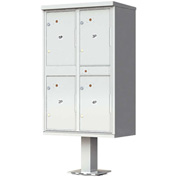 Valiant Outdoor Parcel Locker, 4 Lockers, Postal Grey