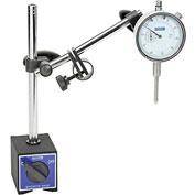 Fowler 52-585-110 Magnetic Base with Fine Adjust and Dial Indicator Combo