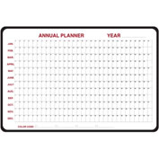 "Ghent® Annual Dry Erase Planner, Non-Magnetic, 24"" x 36"""