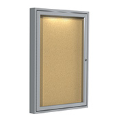 """Ghent® Concealed Lighting Enclosed Bulleting Board - 24""""W x 36""""H"""