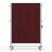 Ghent® Nexus Partition Reversible Mobile Fabric Tackboard Merlot/Merlot