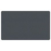 """Ghent® Fabric Bulletin Board with Wrapped Edge, 46-1/2""""W x 36""""H, Gray"""