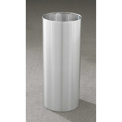 Glaro 14 Gallon Open Top Wastebasket, Satin Aluminum New Yorker Collection - 1229-SA