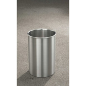 Glaro 5 Gallon Open Top Wastebasket, Satin Aluminum New Yorker Collection - 66-SA