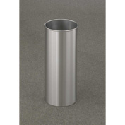 Glaro 7 Gallon Open Top Wastebasket, Satin Aluminum New Yorker Collection - 922-SA