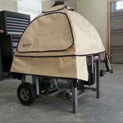 GenTent GT10KC4UTB,10k Stormbracer Safety Canopy for Portable Generators,Sq. Frame,Tan,Made in USA