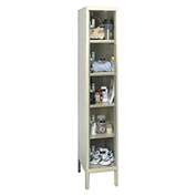 Hallowell USVP1256-5A Safety-View Plus Locker Five Tier 12x15x12 5 Doors Assembled Parchment