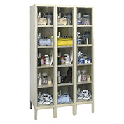 Hallowell USVP3256-5A Safety-View Plus Locker Five Tier 12x15x12 15 Doors Assembled Parchment